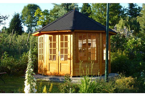 gartenlaube grilllaube und pavillon aus holz geschlossen sommergl ck kaufen. Black Bedroom Furniture Sets. Home Design Ideas