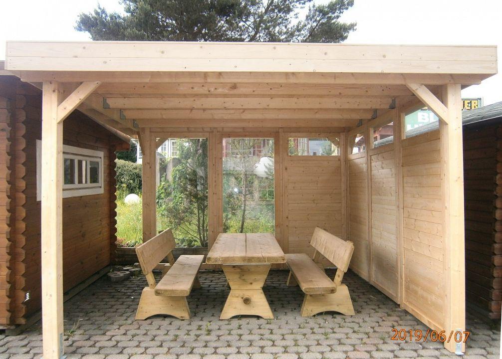 gartenlauben grilllauben und pavillons aus holz offen gazebo star kaufen. Black Bedroom Furniture Sets. Home Design Ideas