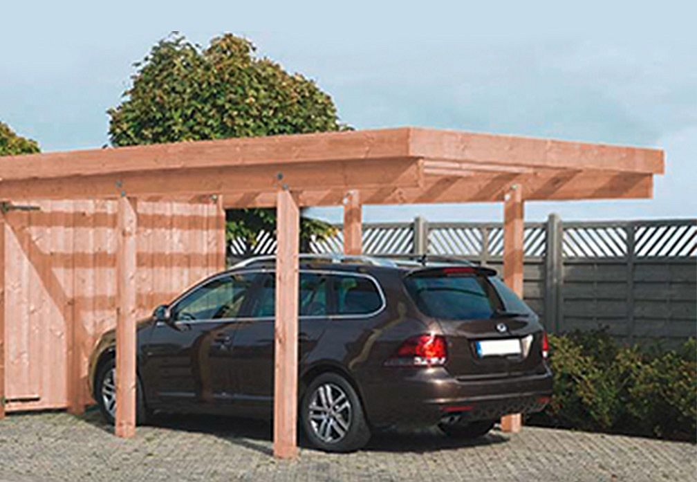 carports und garagen carports aus holz amrum 1 von steinhauer gut und g nstig. Black Bedroom Furniture Sets. Home Design Ideas