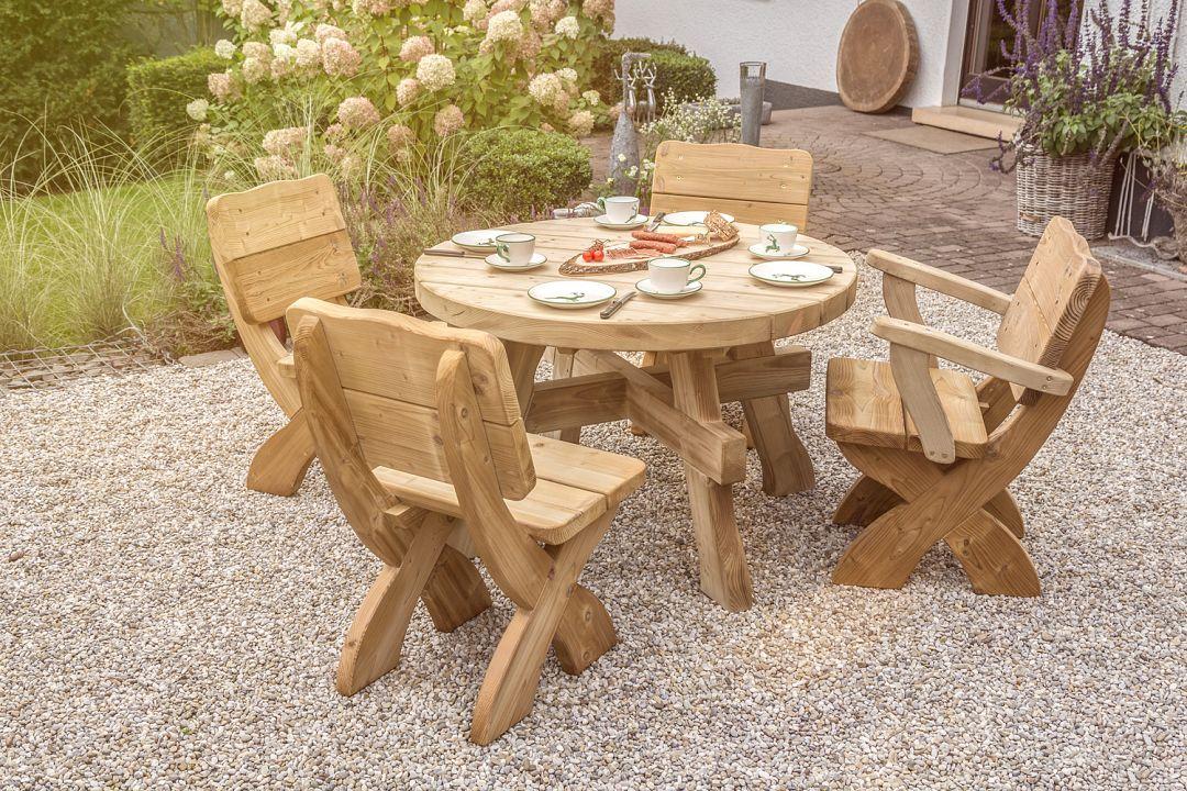 Gartenmobel Eisen Gebraucht :  westfalen tisch rund kesseldruckimprägniert tisch mit 6 5 cm platte