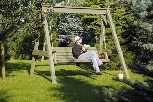 Hollywoodschaukel Holz Kesseldruckimprägniert ~ Gartenmöbel und Zubehör Rustikale Hollywoodschaukel kaufen