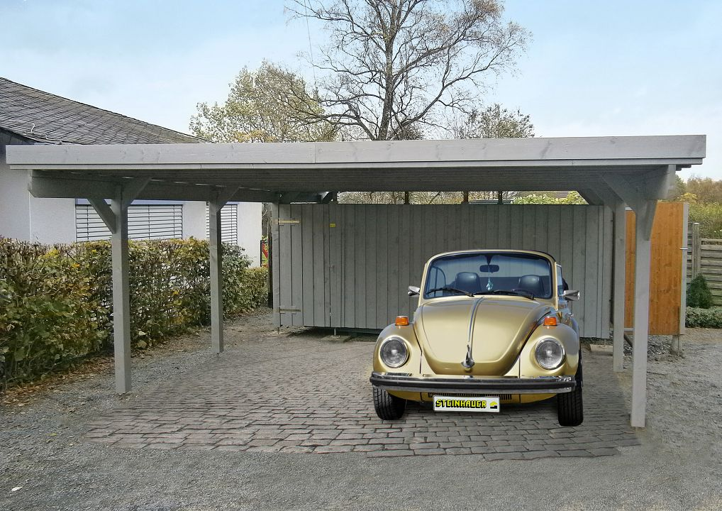 carport und garage aus holz usedom 1 kaufen. Black Bedroom Furniture Sets. Home Design Ideas