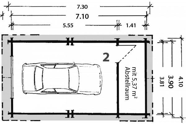 carports und garagen garagen aus blockbohlen eibe 2 von. Black Bedroom Furniture Sets. Home Design Ideas